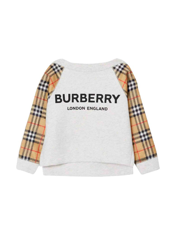 Burberry Kids' White Sweatshirt In Bianco