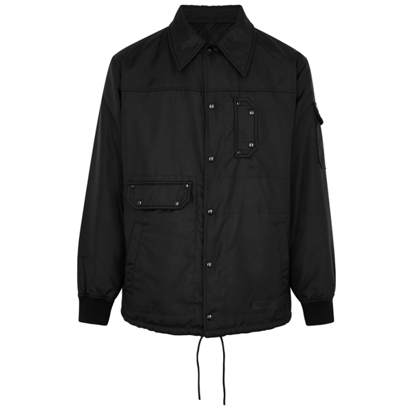 Givenchy Men's Chain Reversible Nylon Jacket In Black