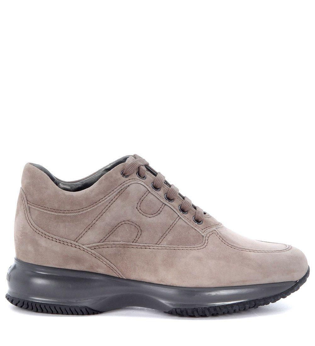 Hogan Interactive Sneaker In Dove Grey Suede In Grigio