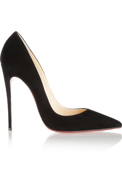 c29a8d15932727 Christian Louboutin So Kate 120 Suede Point Toe Pumps In Black ...