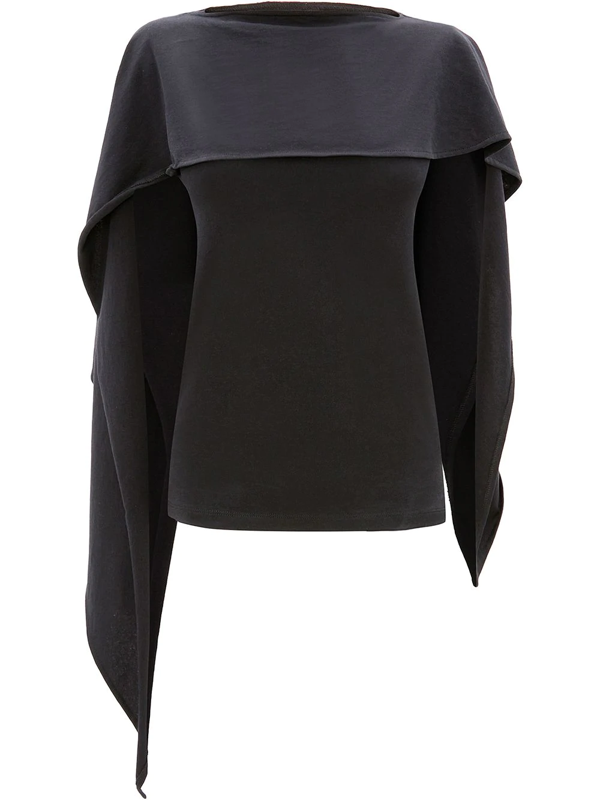 Jw Anderson Draped Sleeveless Top In Black