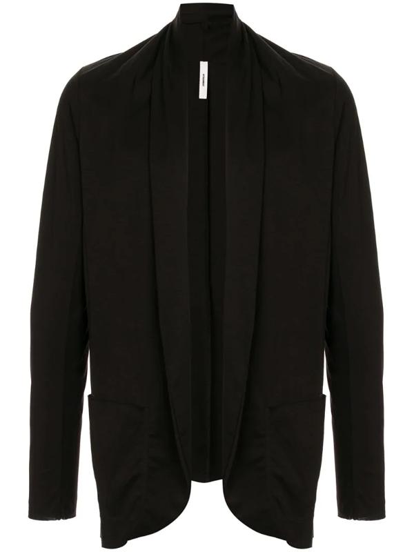 Attachment Shawl Lapel Cardigan In Black