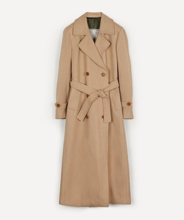 Giuliva Heritage Collection Christie Trench Coat In Sand