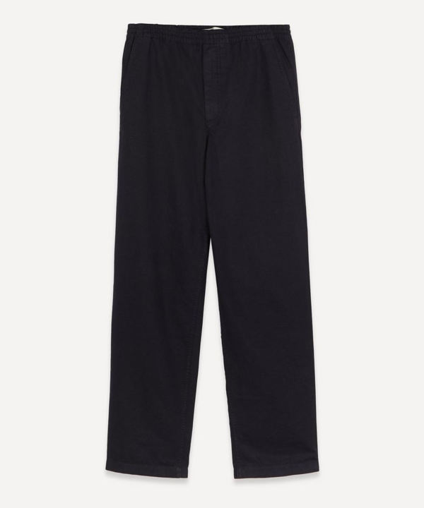 Norse Projects Evald Drawstring Canvas Trousers In Dark Navy
