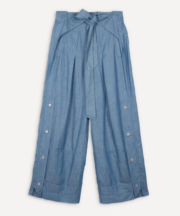 3.1 Phillip Lim Chambray Sports Utility Trousers In Blue