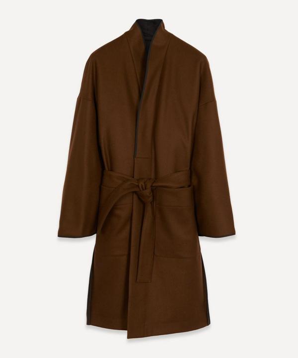 Lemaire Kimono Coat In Dark Brown