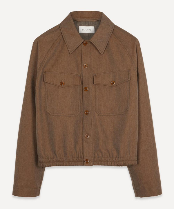 Lemaire Military Jacket In Ocre Brown