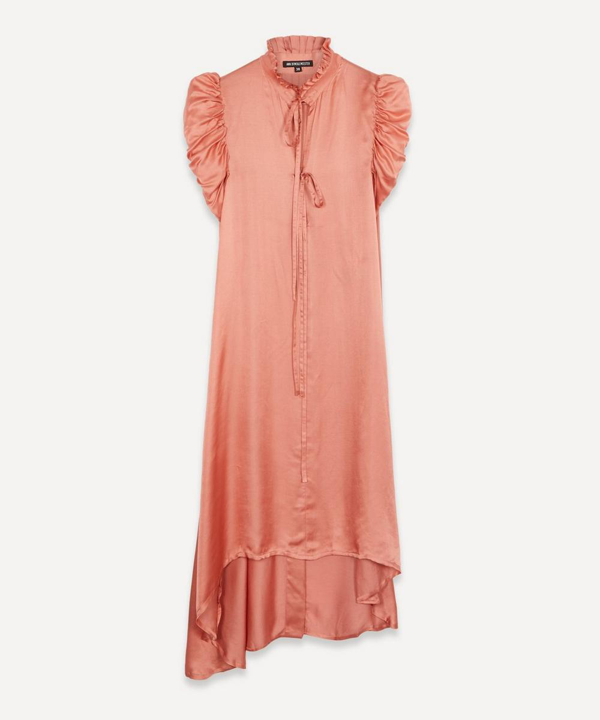 Ann Demeulemeester Draped Asymmetric Dress In Blush