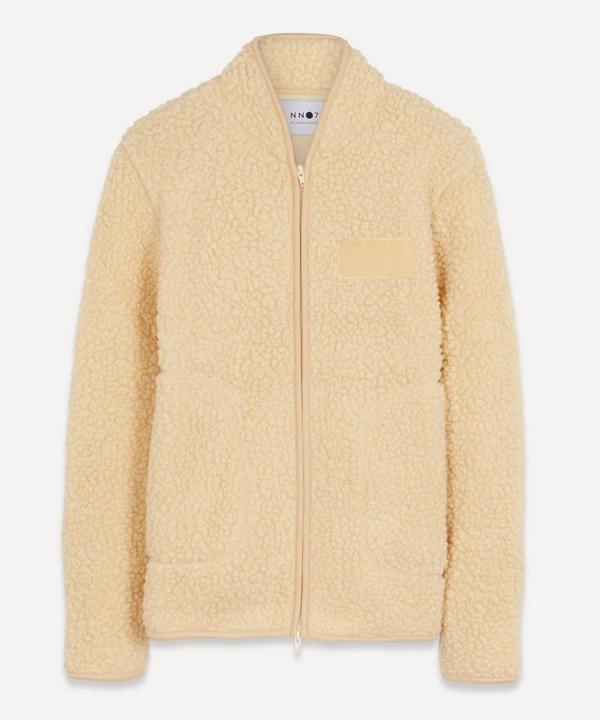 Nn07 Mort 3443 Wool-blend Sherpa Fleece Jacket In Cream