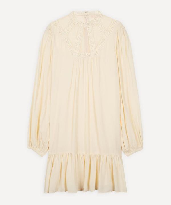 Bytimo Elegant Lace Detail Mini-dress In Cream