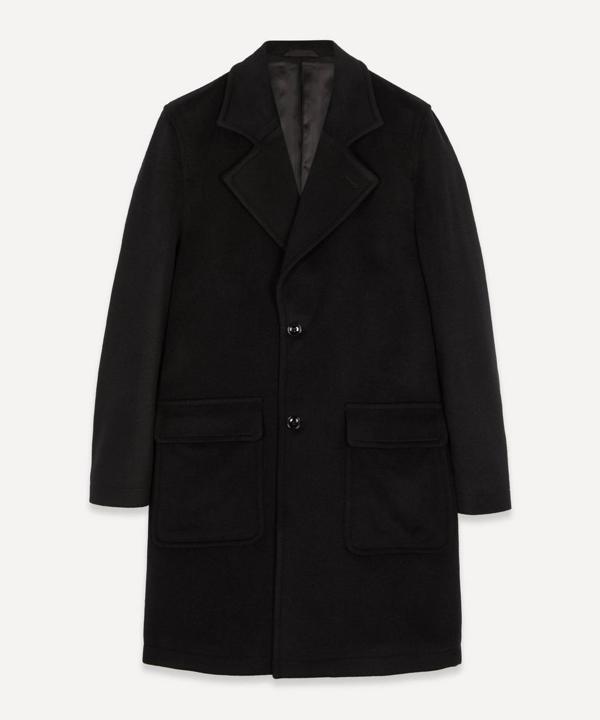 Nn07 Fain 8420 Oversized Brushed Wool-blend Coat In Black