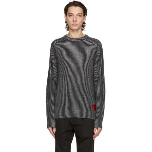 Hugo Striped Sweater In 1 Black