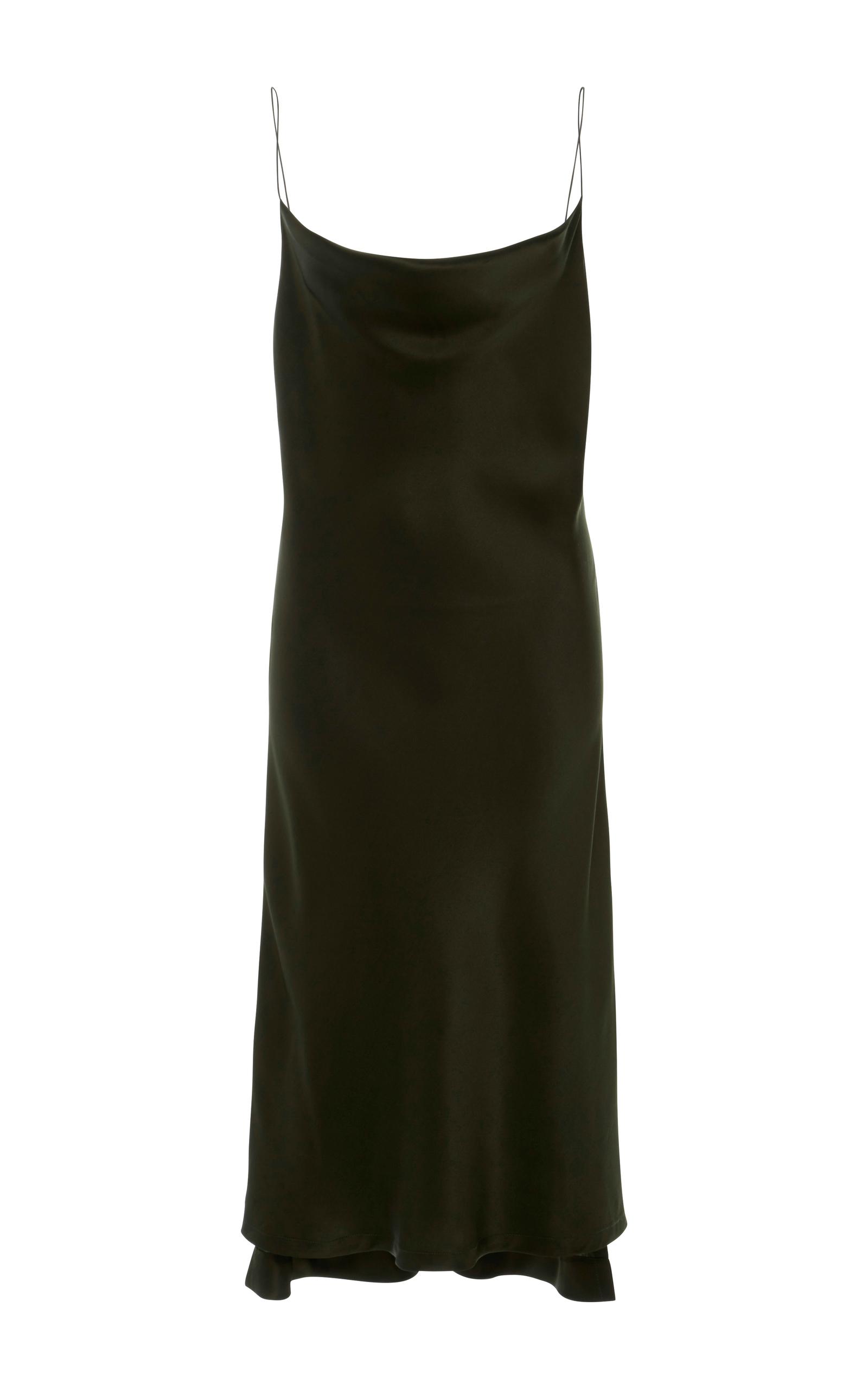 new high so cheap uk store Protagonist Draped Bias Slip Dress In Olive   ModeSens