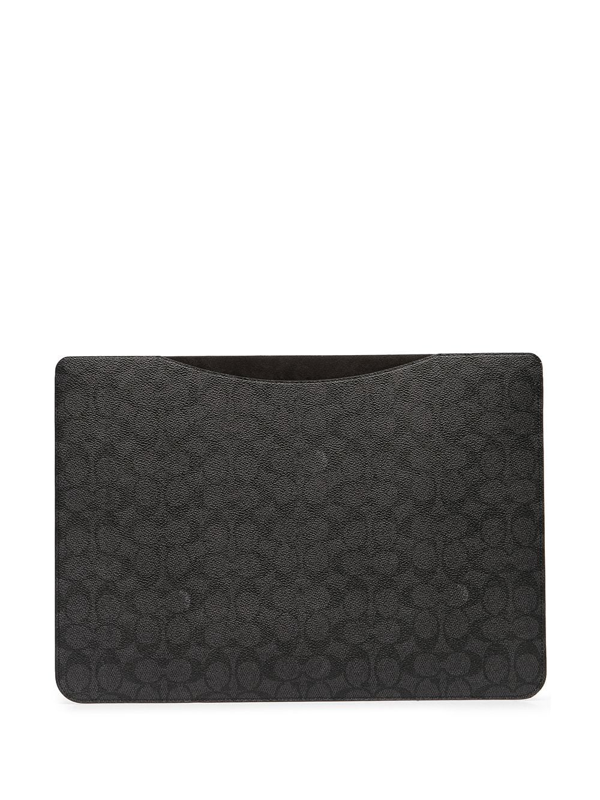 Coach Monogram Laptop Sleeve In Grey