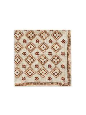 Brunello Cucinelli Men's Reversible Floral Medallion & Tapestry Print Pocket Square In Brown
