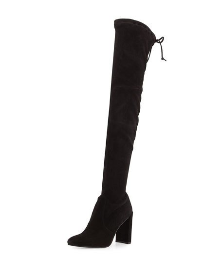 a67d59dfa0 Stuart Weitzman Highchamp Suede Over-The-Knee Boot In Black | ModeSens