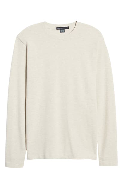 French Connection Pebble Knit Crewneck Pullover In Dove Grey Melange