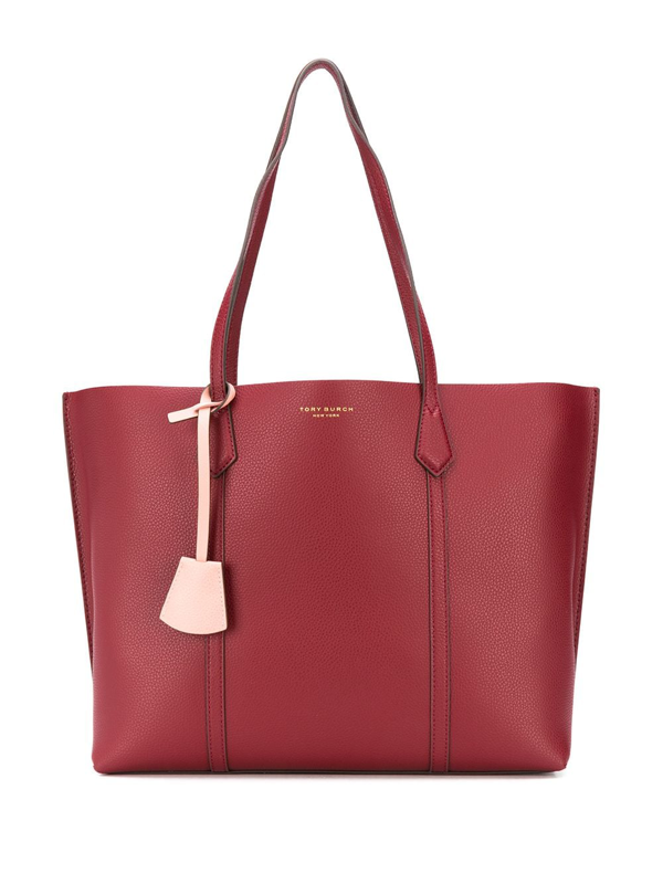 Tory Burch Perry Burgundy Leather Tote In Red