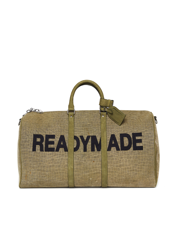 Readymade Over Night Bag With Belt In Green