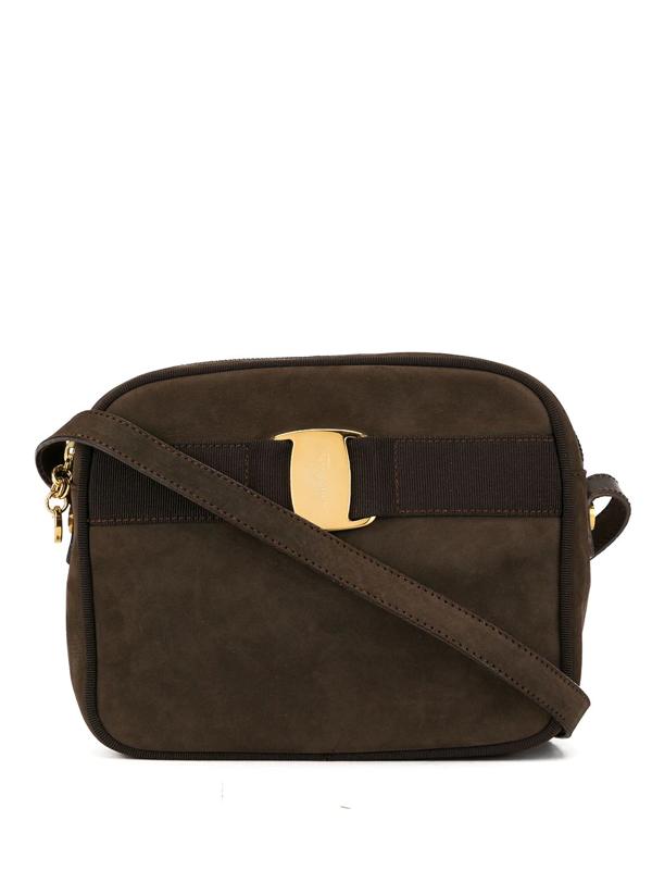 Pre-owned Salvatore Ferragamo Vara Crossbody Bag In Brown