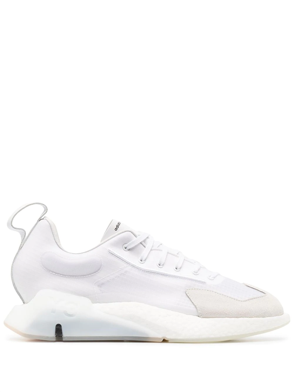 Y-3 Chunky Mesh Detail Sneakers In White