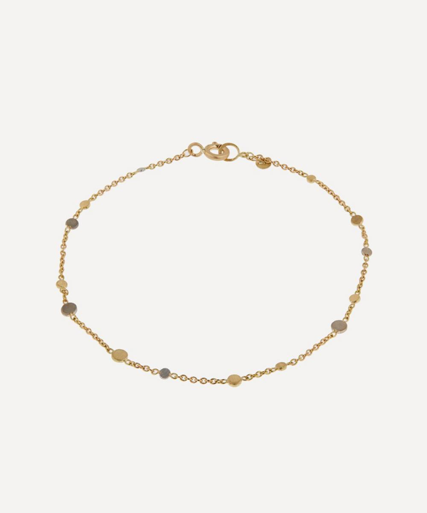 Sia Taylor Gold And Platinum Scattered Dust Bracelet In Gold/platinum