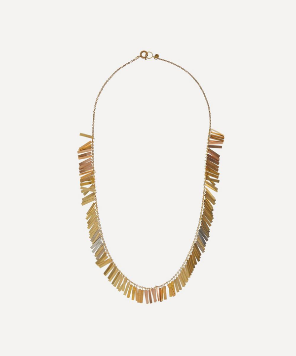 Sia Taylor Rainbow Gold Sunset Fringe Necklace