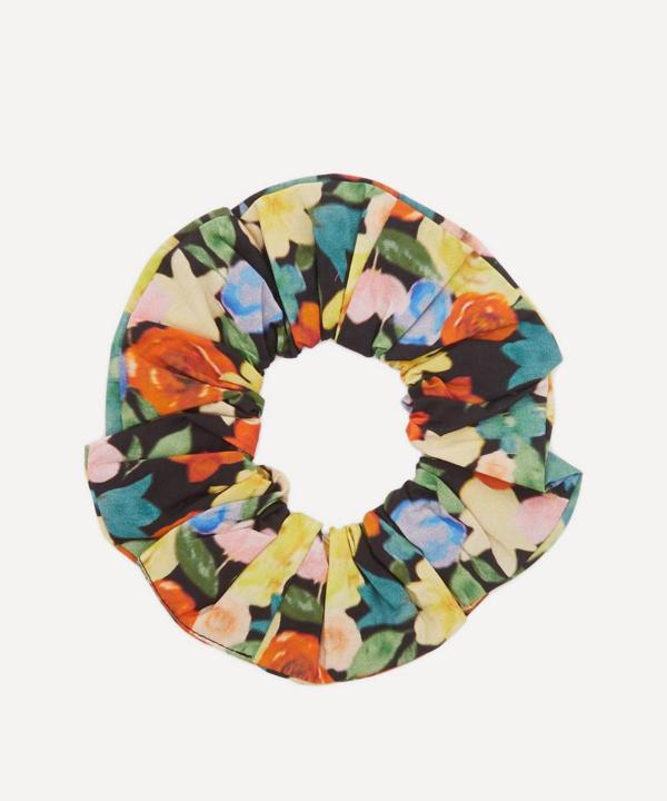 Ganni Printed Cotton Poplin Scrunchie In Multi