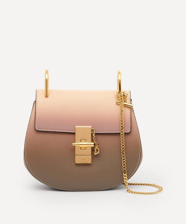 Chloé Mini Drew Leather Shoulder Bag In Pink