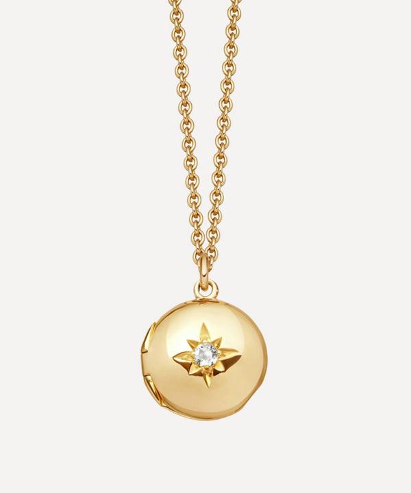 Astley Clarke Mini Biography Locket Necklace In Gold