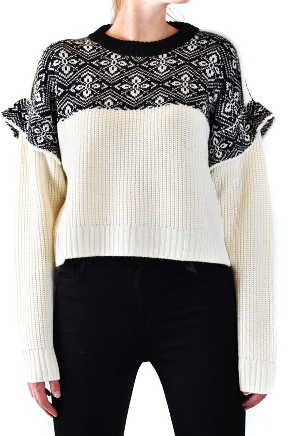 Philosophy Women's Beige Wool Sweater