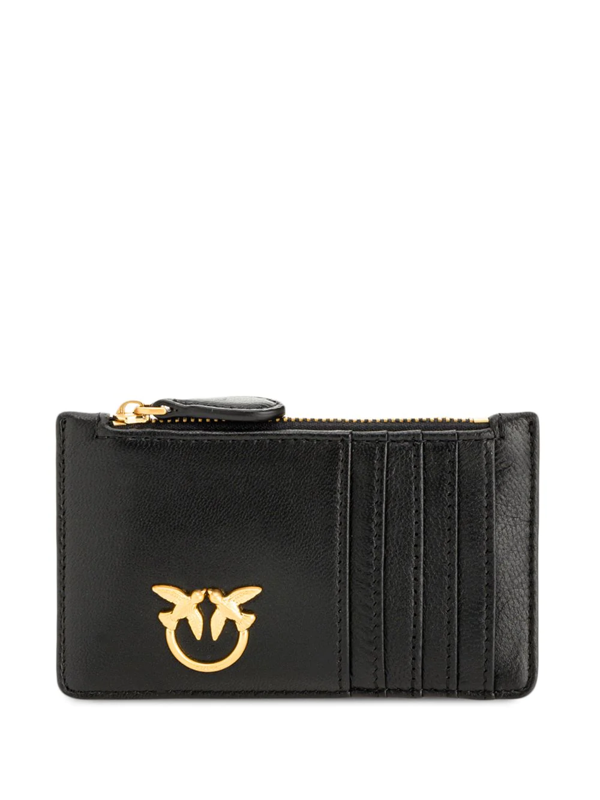 Pinko Quilted Card Slot Purse In Black
