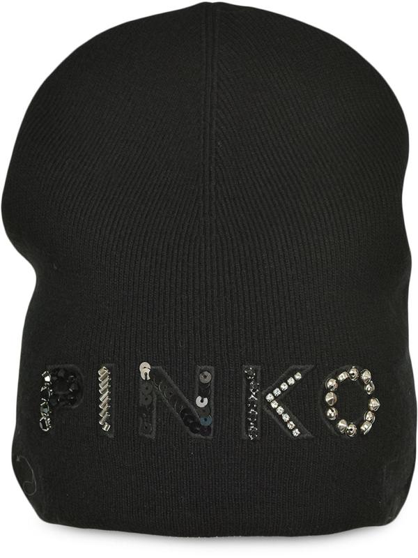 Pinko Women's Black Viscose Hat