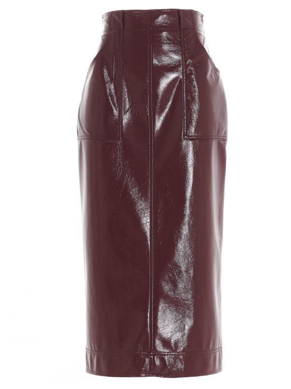 Philosophy Women's Burgundy Polyester Skirt