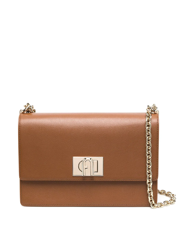 Furla 1927 Mini Shoulder Bag In Leather In Brown