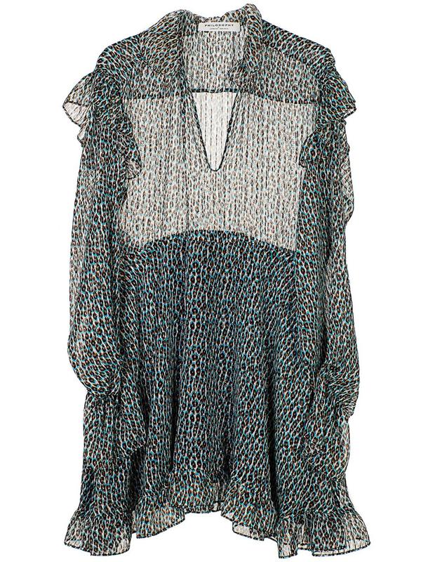 Philosophy Women's Light Blue Silk Dress