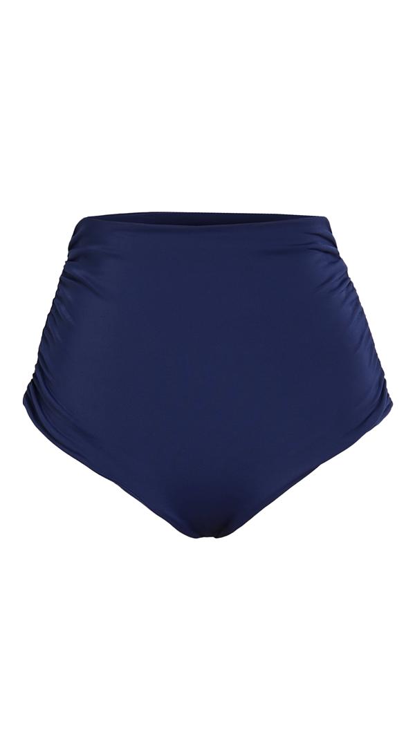 Juan De Dios Victoria Reversible Bikini Bottoms In Dark Blue