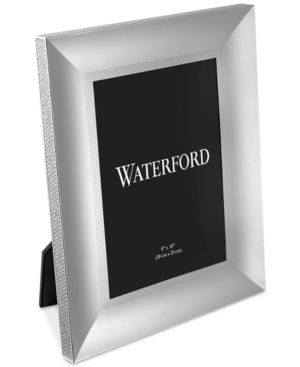 "Waterford Lismore Diamond 8"" X 10"" Frame In Silver"