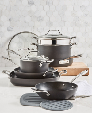 All-clad Essentials Nonstick 10-pc. Cookware Set In Black