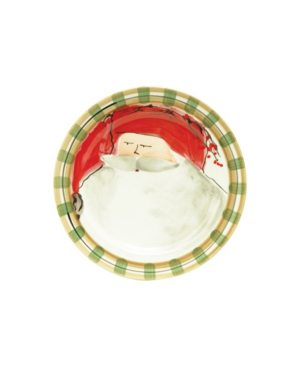 Vietri Old St. Nick Striped Dinner Plate In Open Misc