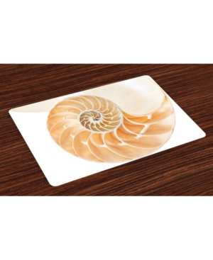 Ambesonne Geometry Place Mats, Set Of 4 In Cream