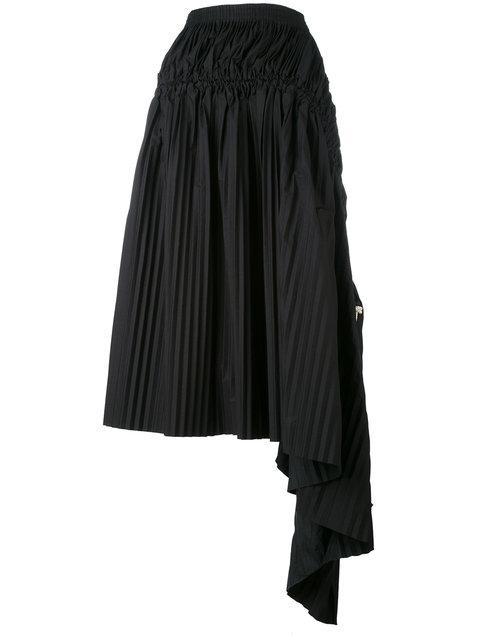 03a83f9b11 Marni Asymmetric Pleated Skirt - Black | ModeSens