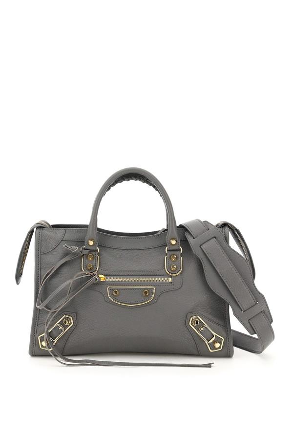 Balenciaga Classic City Small Leather Bag In Grey