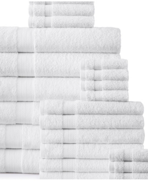 Addy Home Fashions Plush Towel Set - 24 Piece Bedding In White
