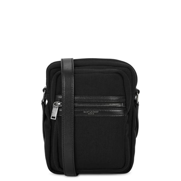 Saint Laurent Black Canvas Cross-body Bag