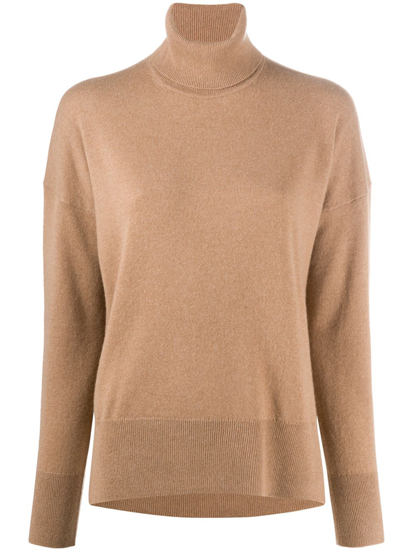 Theory Karenia Cashmere Turtleneck Sweater In Soft Camel
