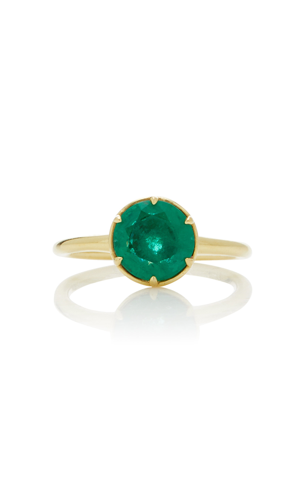 Ila Laval 14k Gold Emerald Ring In Green