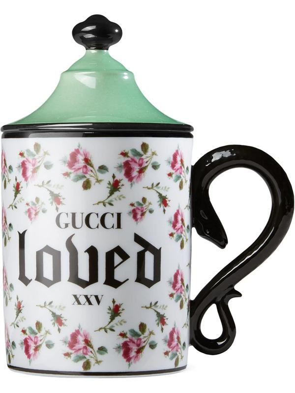 Gucci Rose Mug In Green