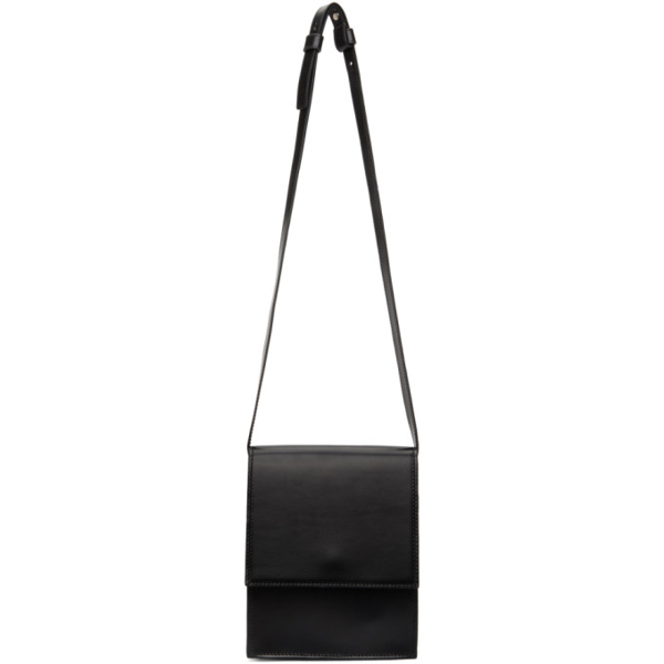 Lemaire Black Small Satchel Bag In 999 Black