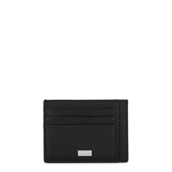 Hugo Boss Crosstown Black Grained Leather Card Holder
